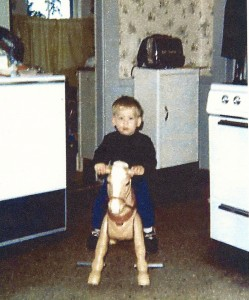 Little Dave on a Toy Horse