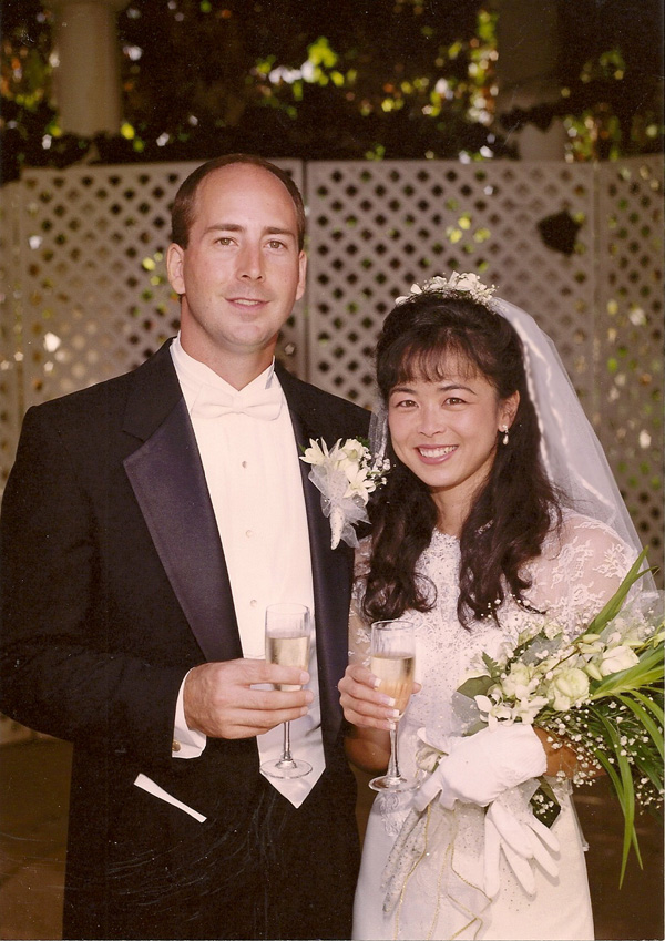 Dave and Lena on Wedding Day