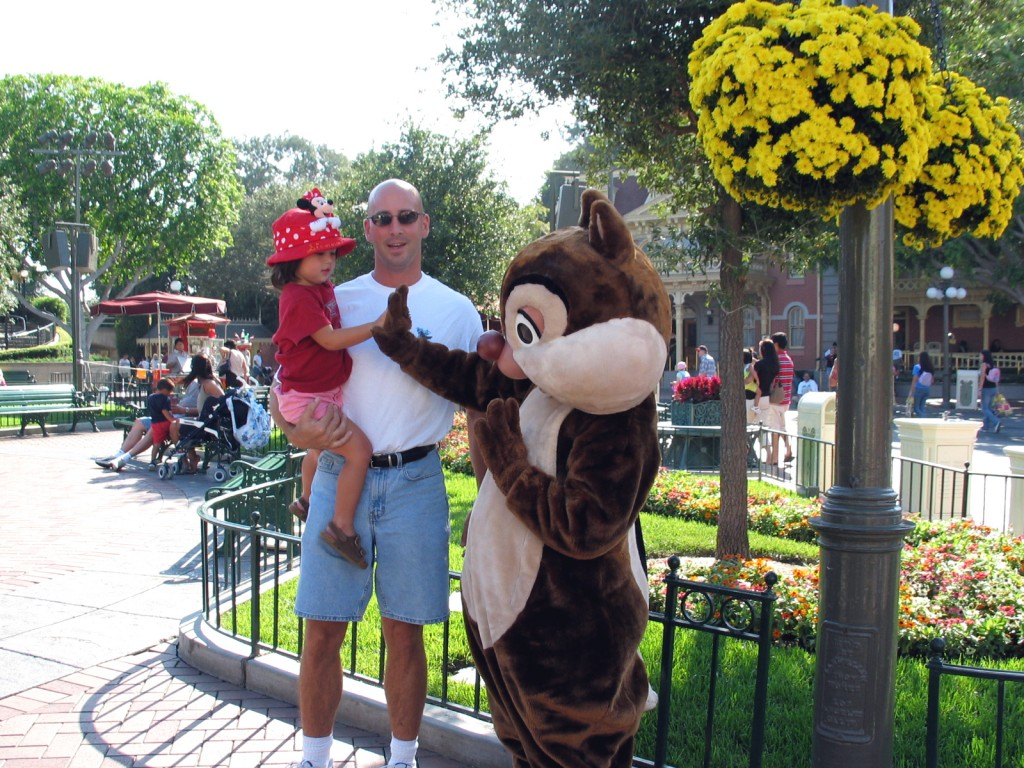 With Chip at Disneyland