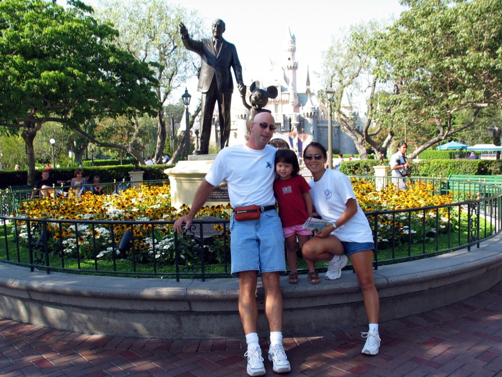 The three of us at Disneyland in 2003